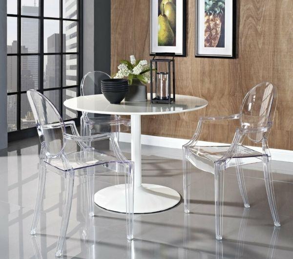 Les chaises transparentes et l intérieur contemporain Archzine