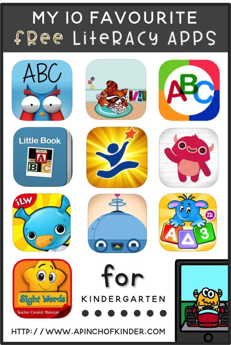 My 10 favourite free literacy apps for kindergarten