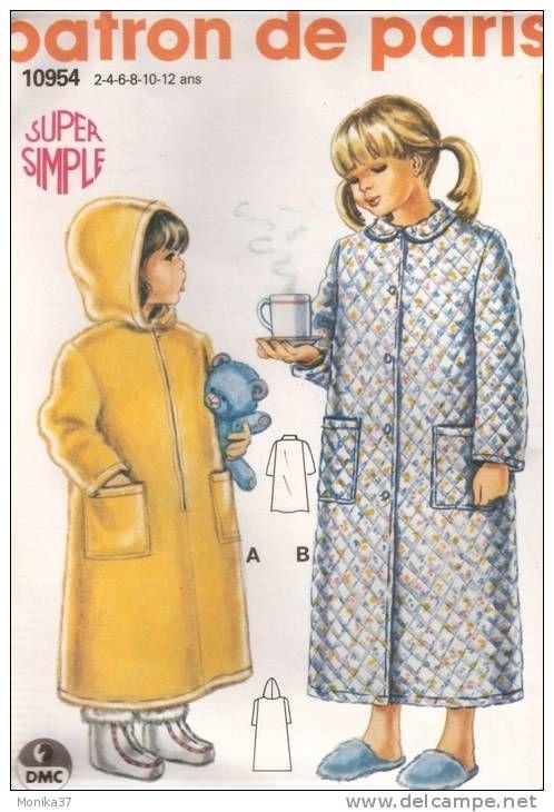 Comment coudre une robe de chambre patron couture robe chambre homme - Patron gratuit robe de chambre femme ...