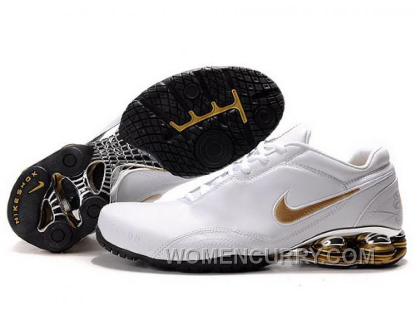 Discover the Men's Nike Shox Shoes White/Gold/Black Cheap To Buy collection  at Pumacreppers. Shop Men's Nike Shox Shoes White/Gold/Black Cheap To Buy  black, ...