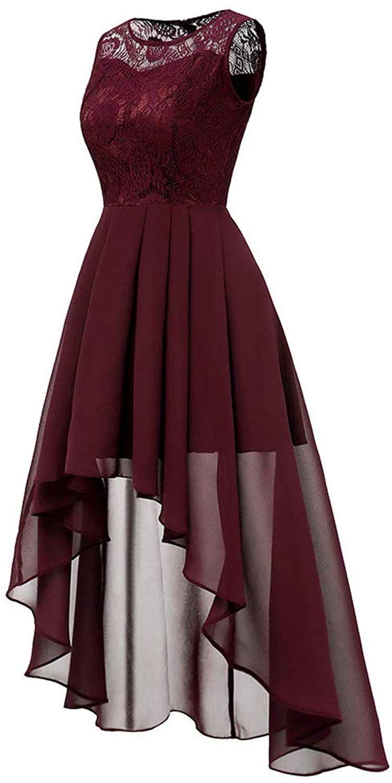 mayogo vintage elegant kleid aus spitze damen unregelmässig