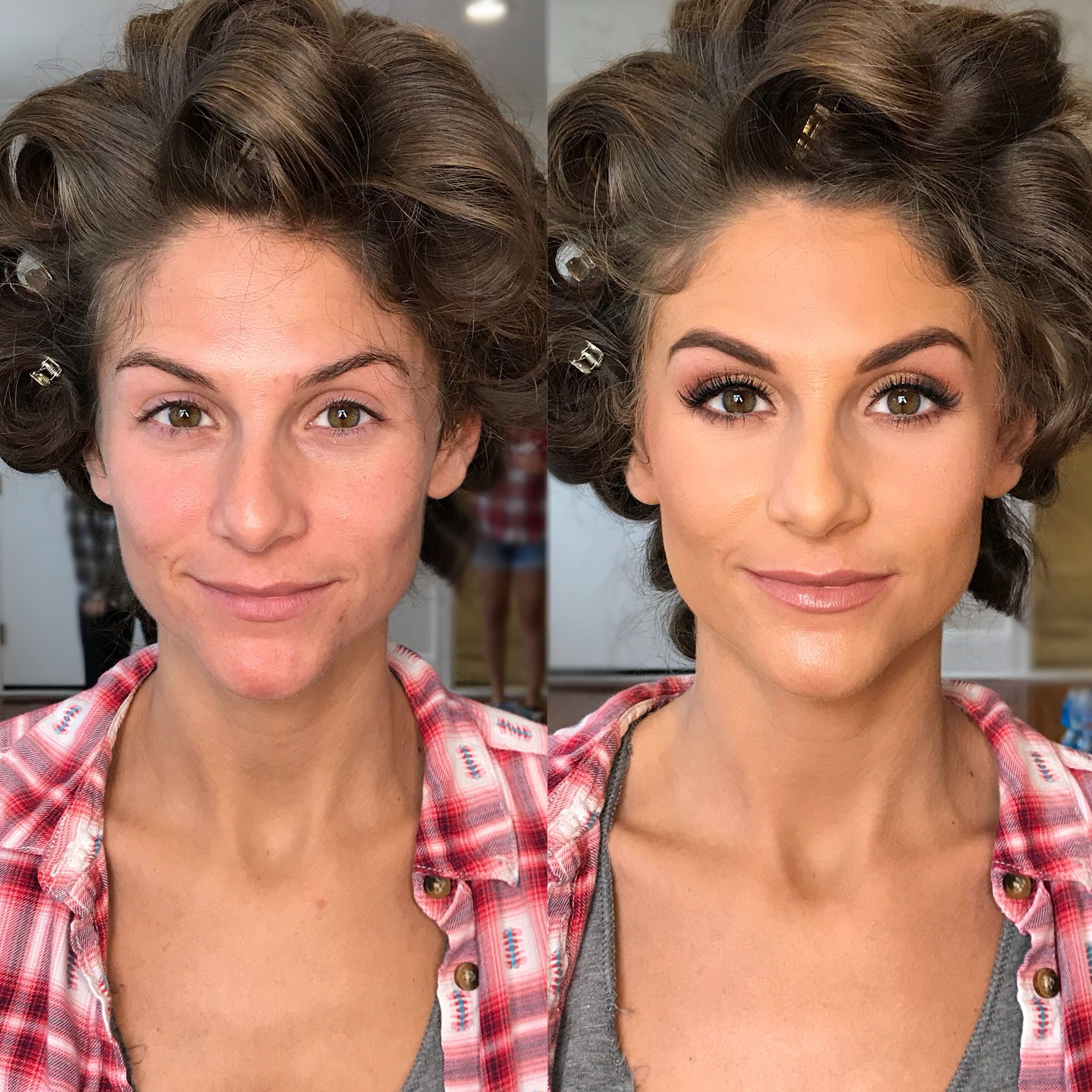 before and after wedding bridal airbrush makeup natural glam