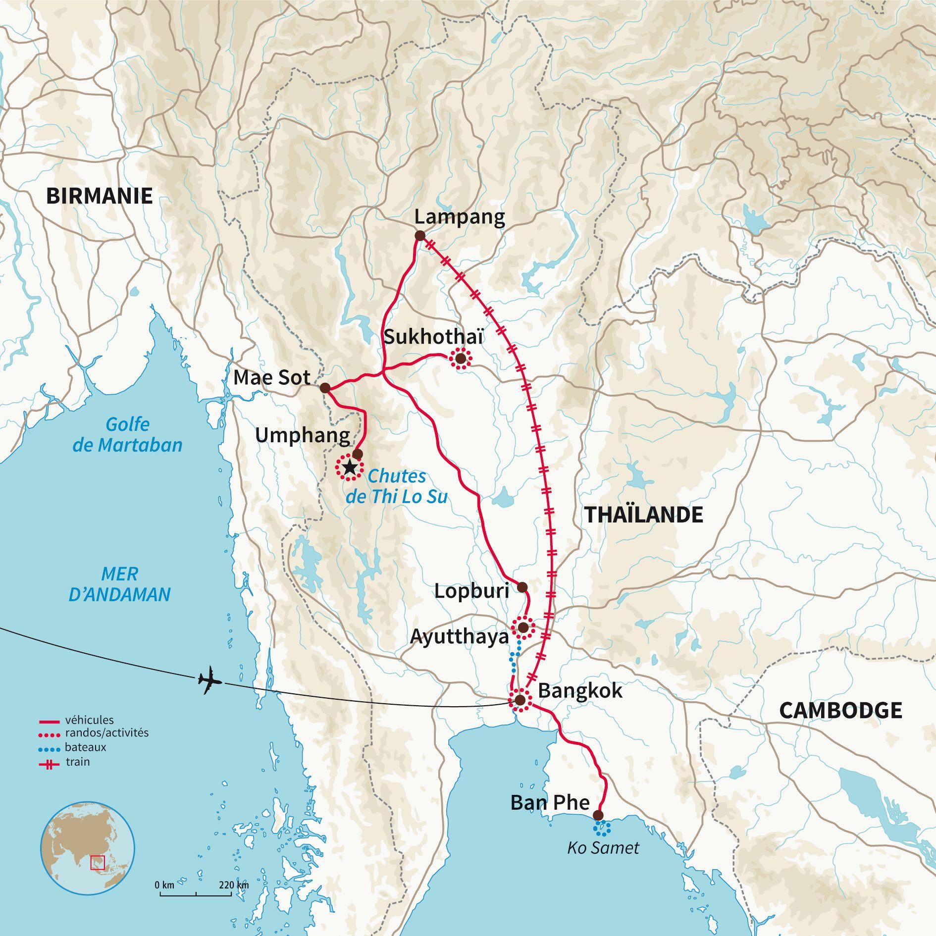 Carte Randonnee Thailande.Carte Thailande Trek Randonnee Aventure Thailande