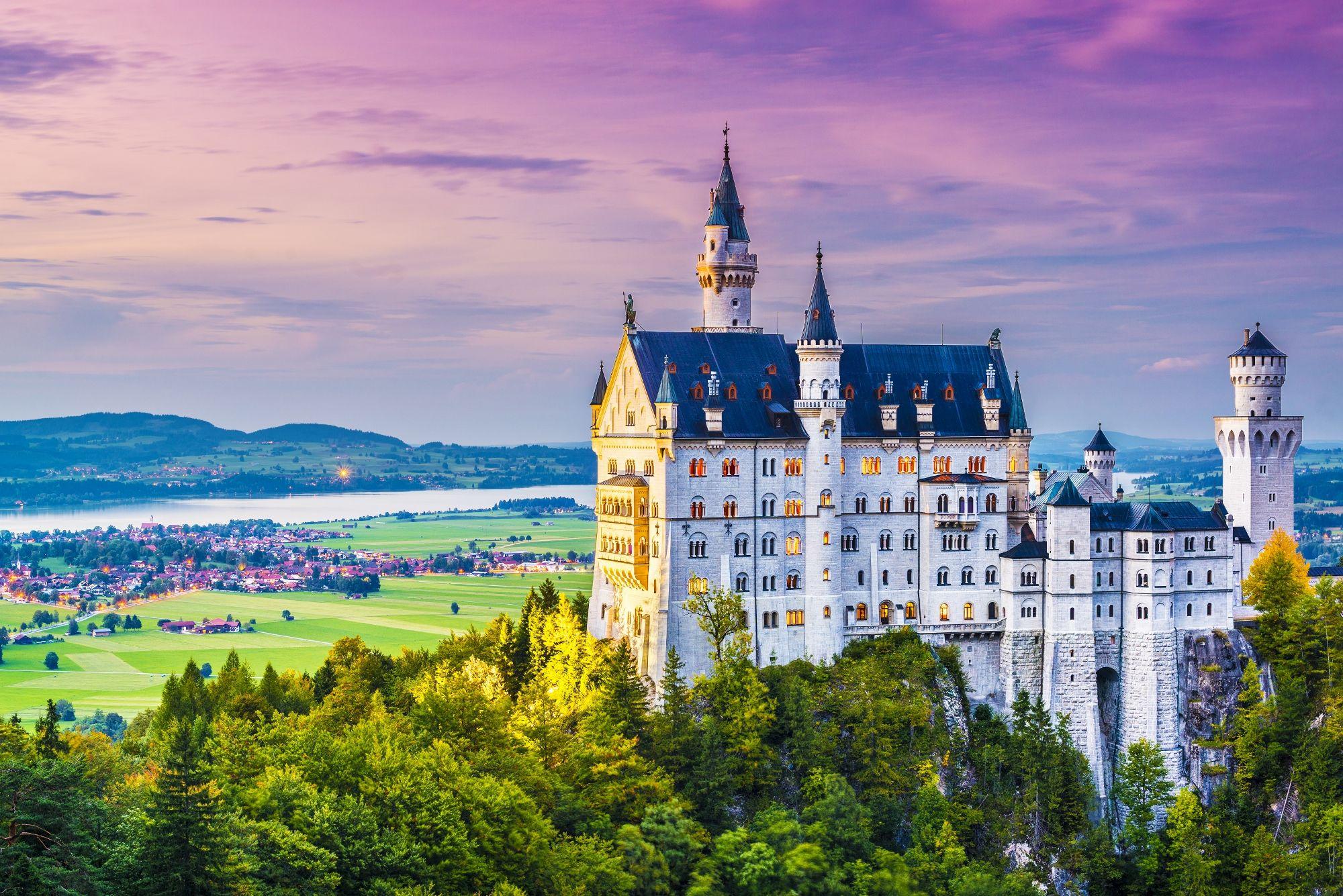 Schloss Neuschwanstein Deutschland Burgen Romantikreisen Neuschwanstein