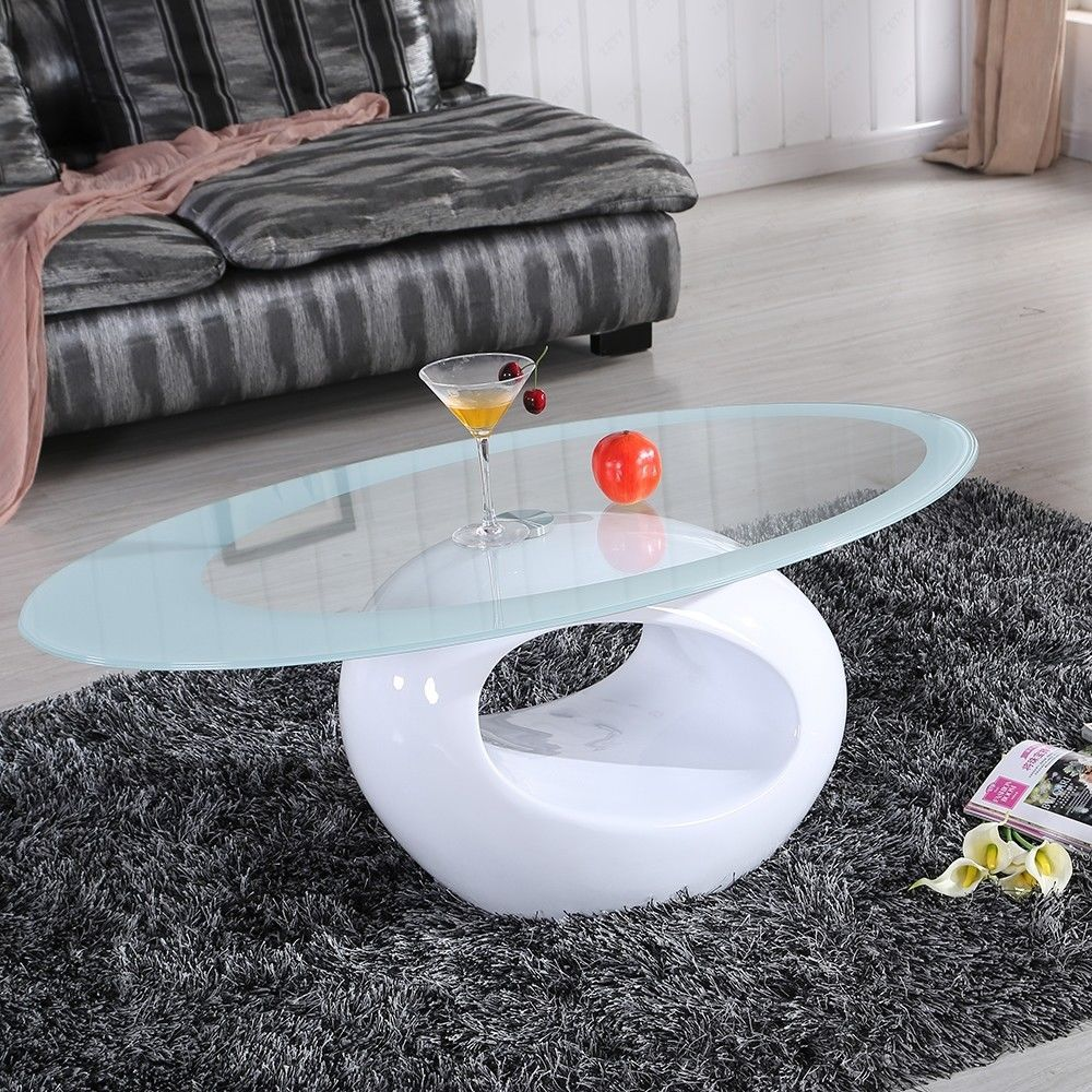 Glass Oval Coffee Table Contemporary Modern Design Living Room Furniture Glass Coffee Table Decor Contemporary Coffee Table Coffee Table [ 1000 x 1000 Pixel ]
