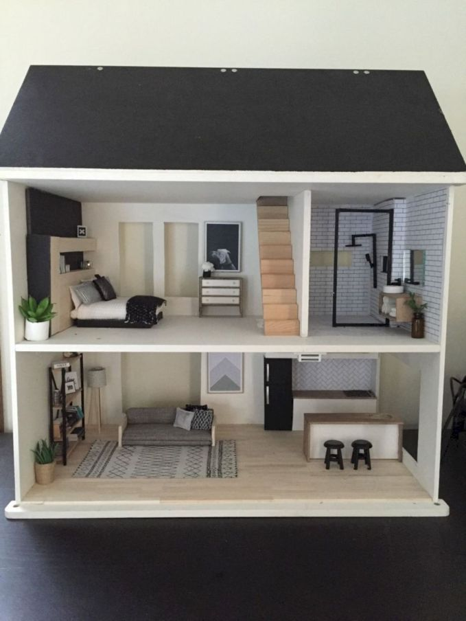 53 Cheap and Affordable DIY Barbie Doll Furniture Ideas - ROUNDECOR #dollfurniture