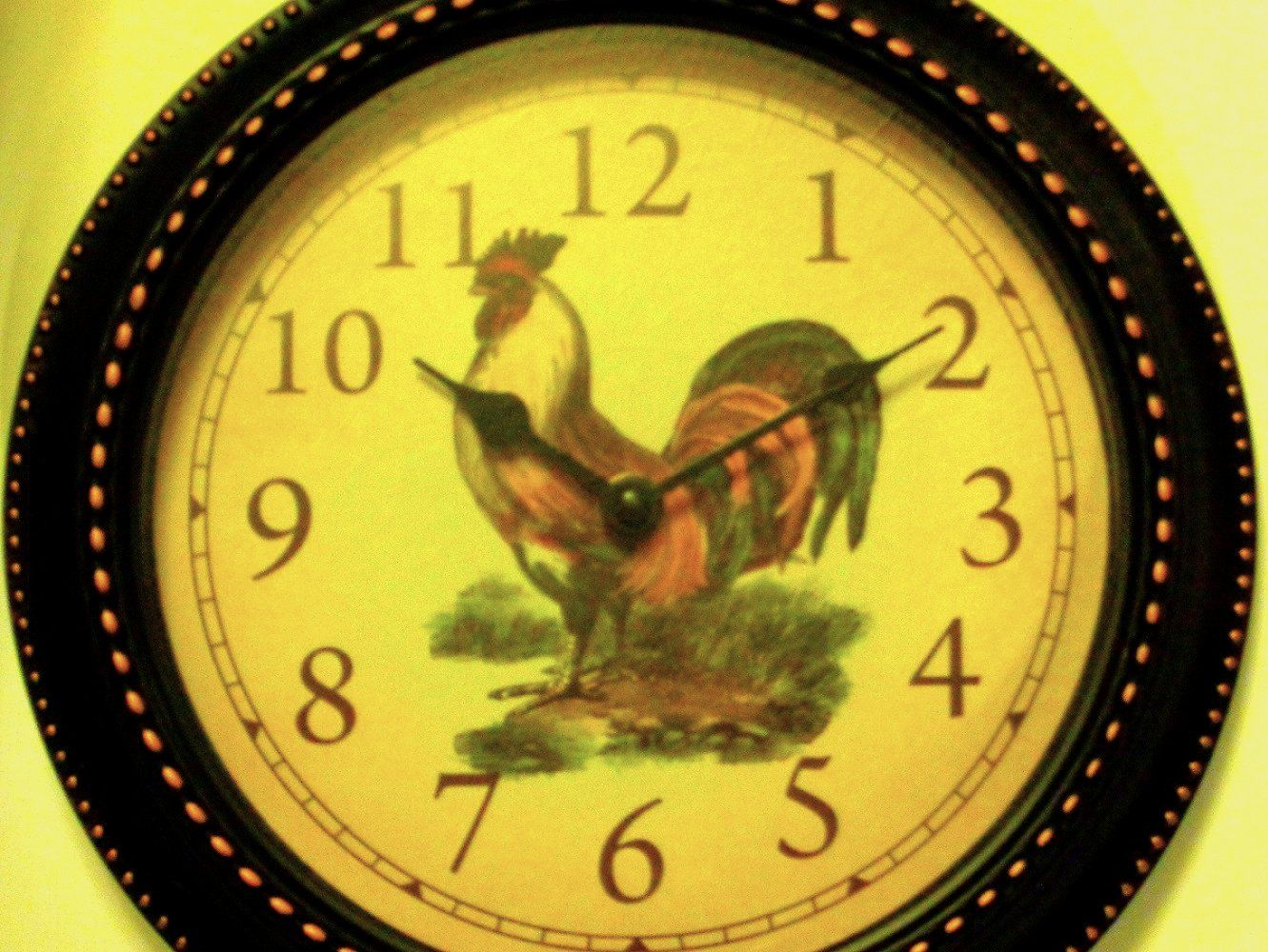 Country Rooster Kitchen Wall Clock $19.95 | Country Rooster Kitchen ...