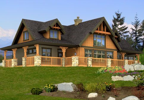 This is the house i think we are going to build on the for Cedar siding house plans