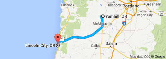 From Yamhill OR To Lincoln City OR