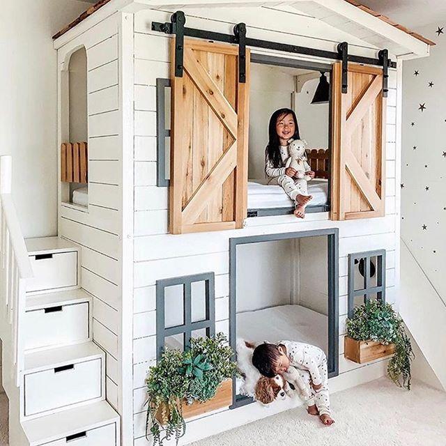 Kleinegarten 23 Schones Gartenhaus Kinder Inspiration In 2020 Stylish Kids Room House Bunk Bed Bunk Bed Designs