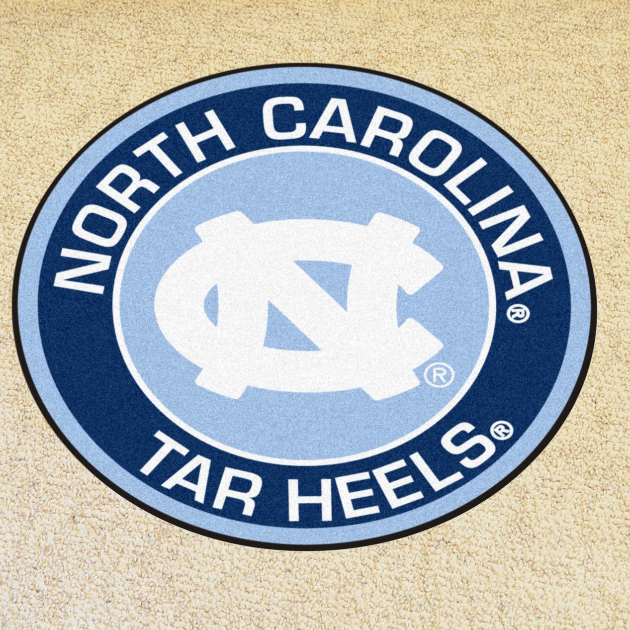 Ncaa University Of North Carolina Chapel Hill Roundel 27 In X 27 In Non Slip Indoor Only Mat North Carolina Tar Heels Basketball North Carolina Chapel Hill University Of North Carolina