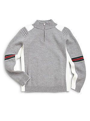 dee1ec9cc433f Gucci Little Boy s Zip-Detail Wool Sweater