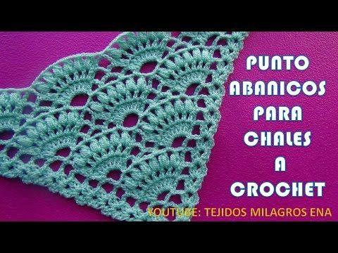 Punto Para Chal Triangular O En Punta En Abanicos Y