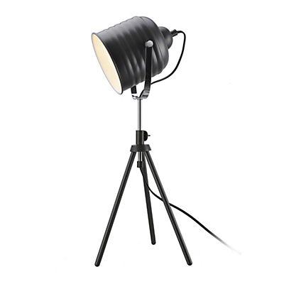 Lampe  poser forme projecteur en métal gris H60cm