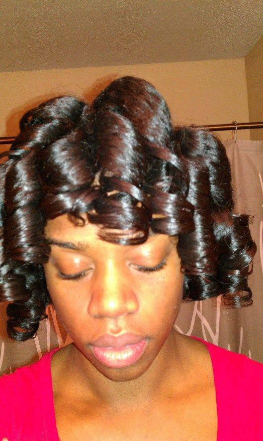 Beautiful Pictures Of Roller Set Hairstyles for Black Hair