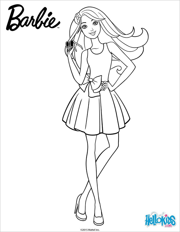 20 Barbie Coloring Pages Doc Pdf Png Jpeg Eps In 2020 Barbie Coloring Barbie Drawing