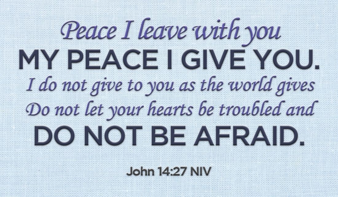 God Wants You To Never Fear The Enemy, Trust Him · John 14 27EcardsOnline Greeting  CardsChristian ...
