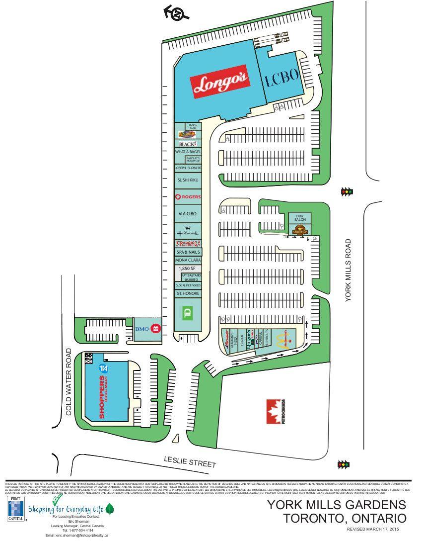 York Mills Gardens shopping plan Ontario, Ontario city