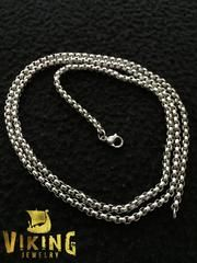 Cubed Stainless Steel Chain Necklace (C002) - Viking Merch
