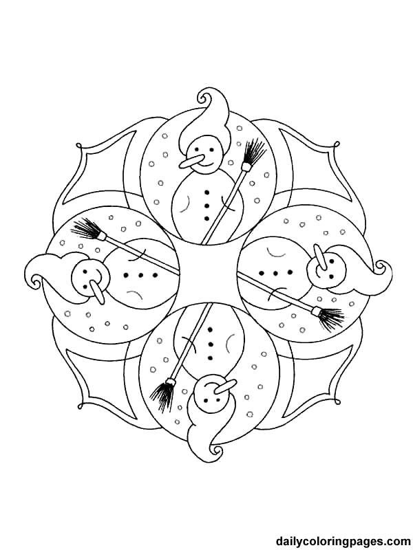free printable mandala coloring pages mandala christmas ornaments coloring pages 002