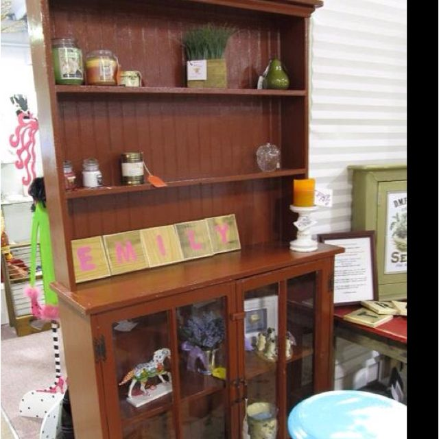 Room Rustic Red Dining Hutch