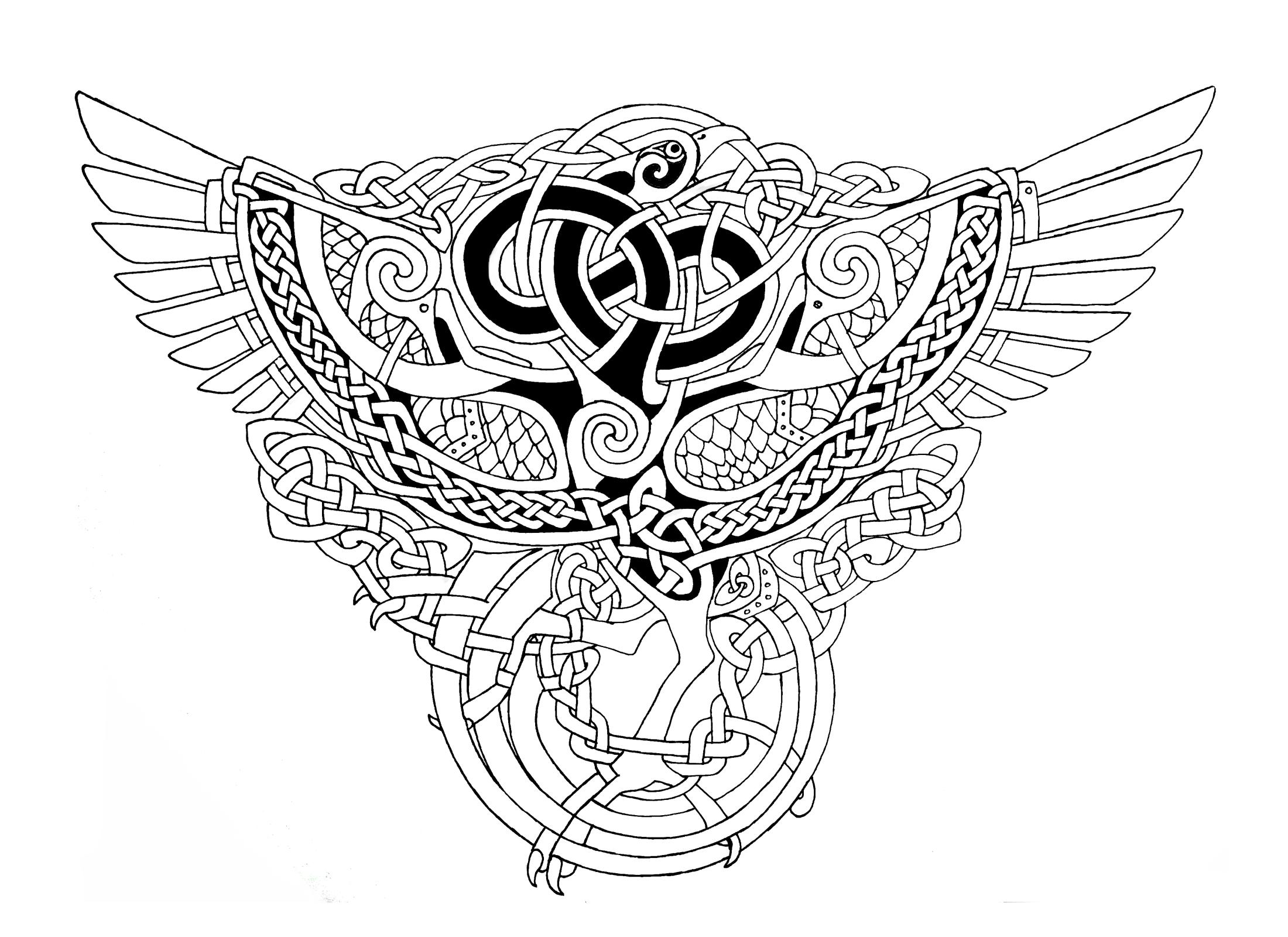celtic phoenix outlines by on deviantart viking pinterest. Black Bedroom Furniture Sets. Home Design Ideas