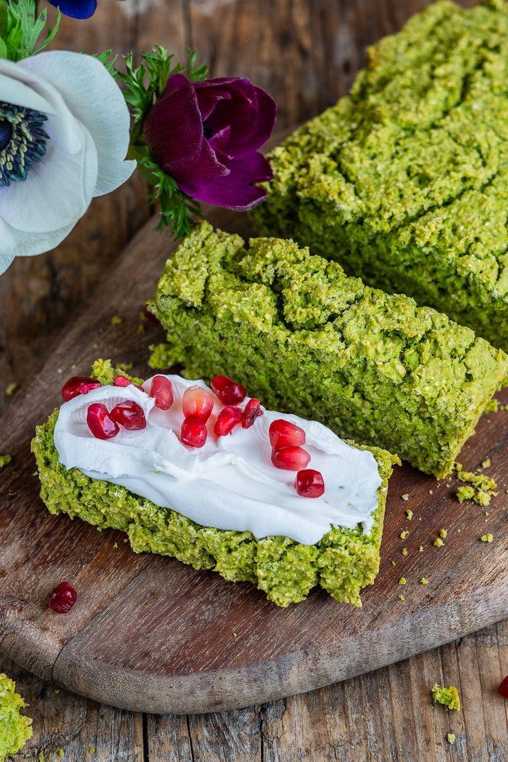 Grünes Eiweißbrot / Erbsenbrot mit 5 Zutaten   - Glutenfreie Rezepte / Glutenfrei Backen -