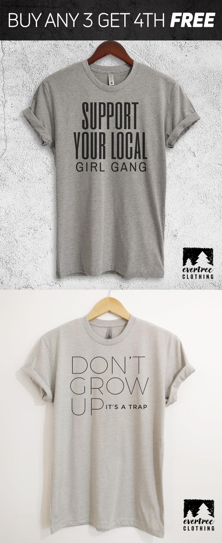 Support Your Local Girl Gang Shirt   Don't Grow Up It's A Trap Shirt
