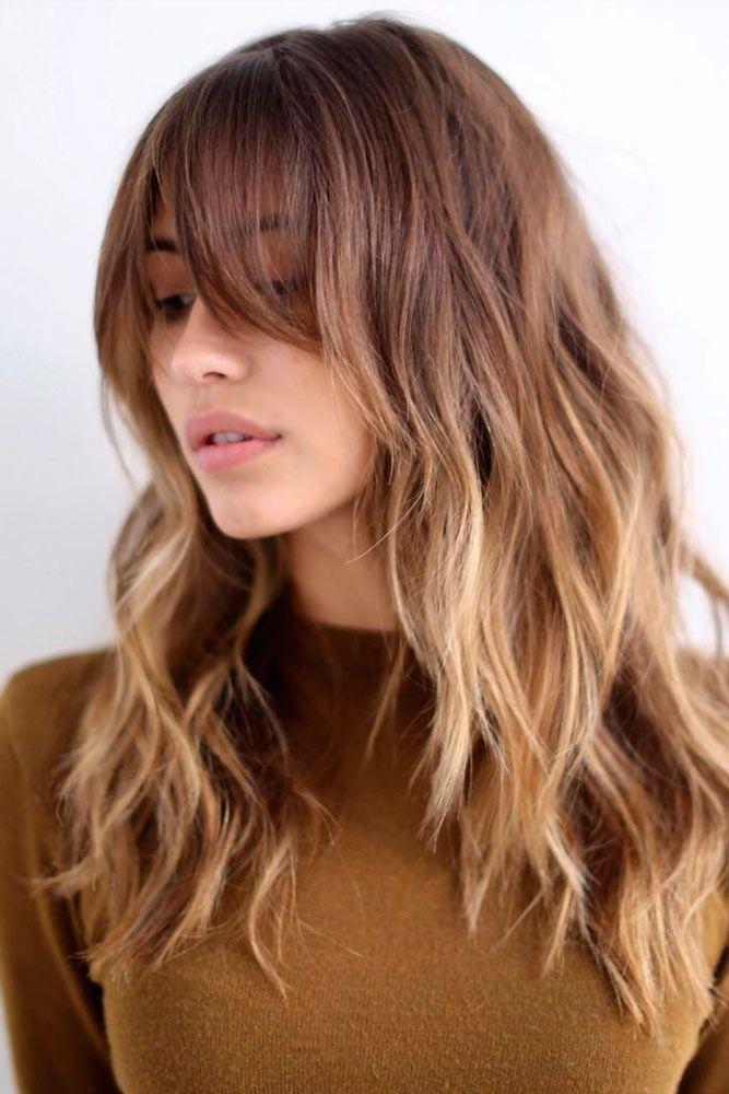 Popular Styles With Fringe Bangs That Will Elevate Your Beauty Di 2020 Dengan Gambar Panjang Rambut Rambut Panjang Ide Potongan Rambut