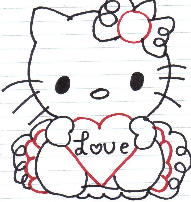 hello kitty border clip art hello kitty love by horror chick66 on rh pinterest com