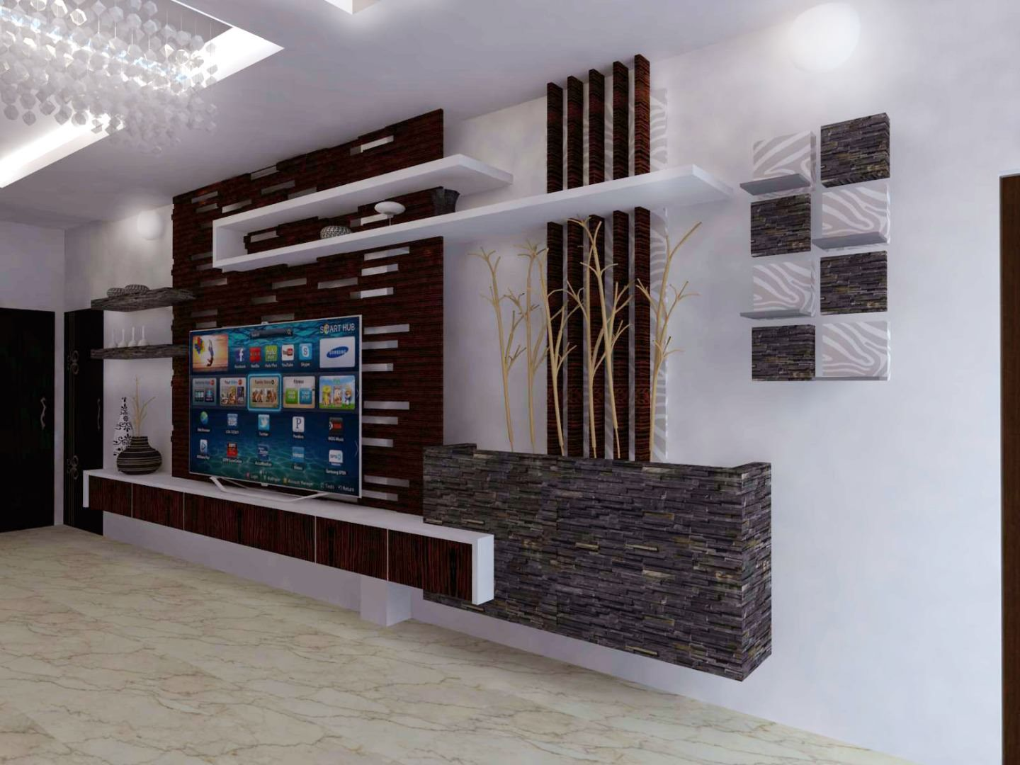 Interior design for indian tv units google search tv unit pinterest tv units and interiors - Contemporary tv wall unit designs ...
