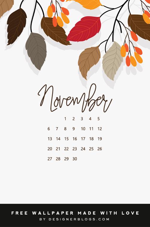 Free November Wallpaper - Designer Blogs