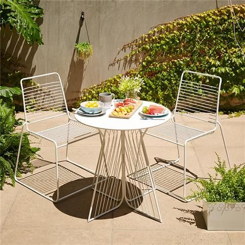 3 Piece Bistro Setting White Another option for back deck This is