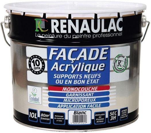peinture de façade acrylique supports neufs et ou en bon états