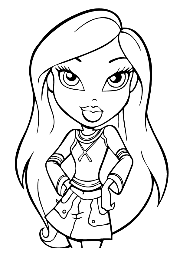 bratz princess coloring pages of cloe jade yasmin and sasha - Bratz Coloring Book