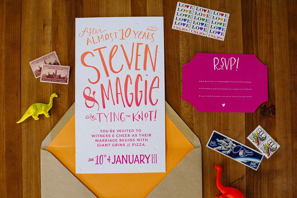 Alternative wedding invitations diy letterpress what do you like