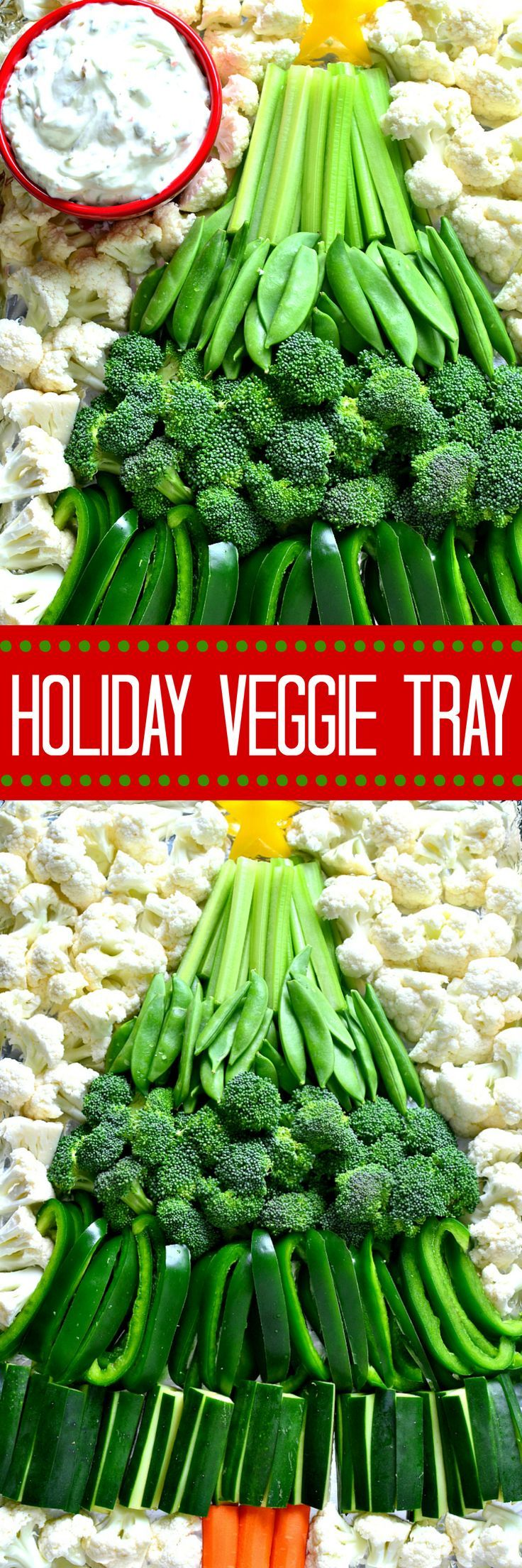 This Holiday Veggie Tray comes together quickly with just ...