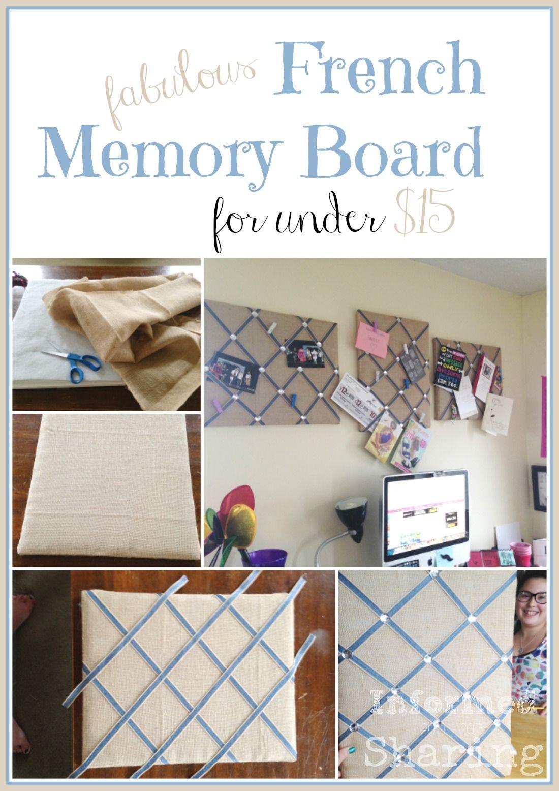 Fabulous French Memory Board For Under 15 Diy Diy Memo Board
