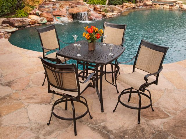 Beautiful Outdoor Bar Dining Table