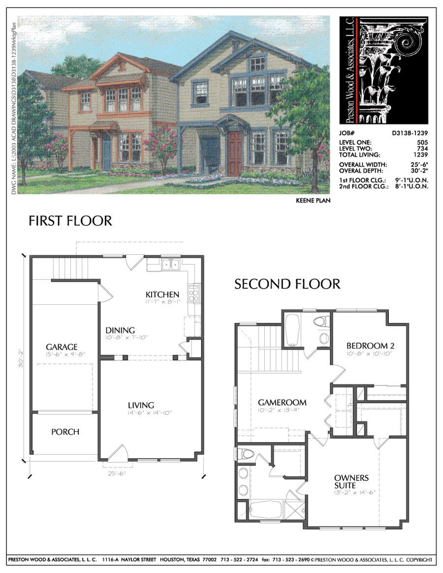 Two Story House Plan D3138 A Two Story House Plans Story House House Floor Plans