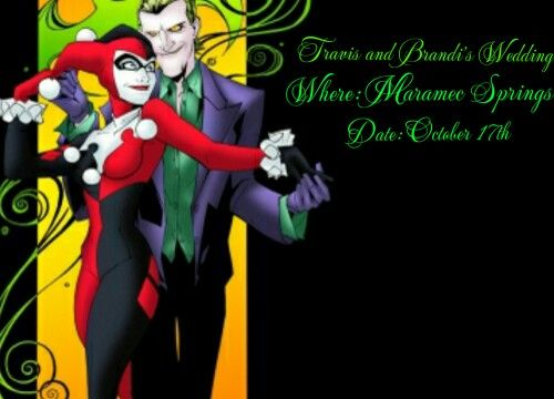 Awesome joker and harley quinn invite