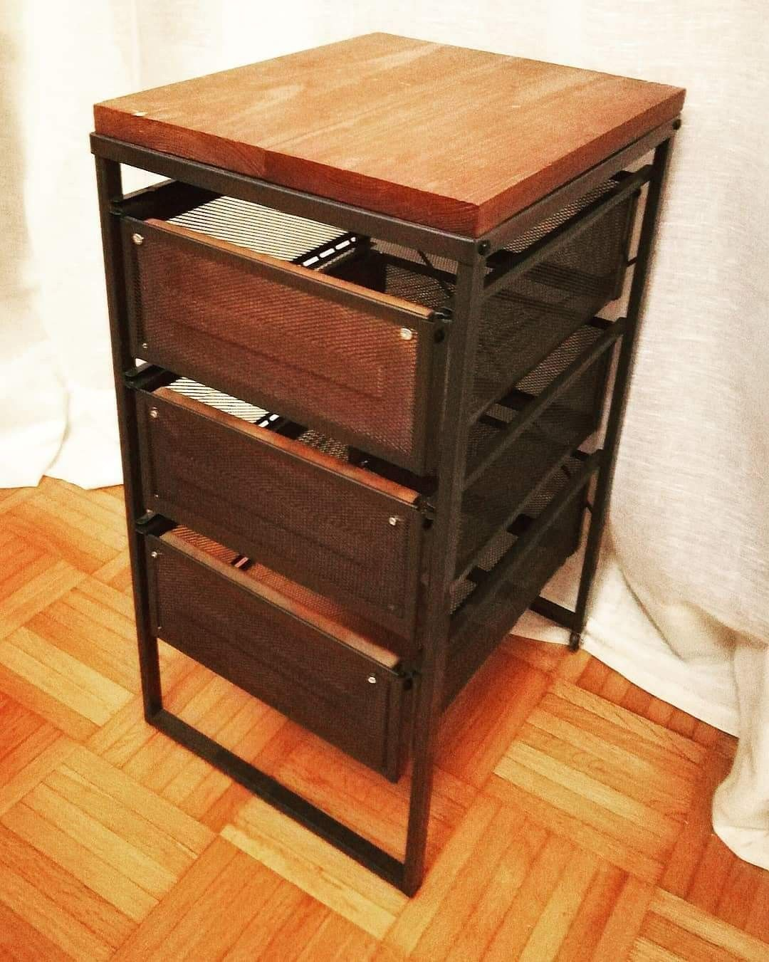 Ikea Lennart drawers revamped Industrial decor