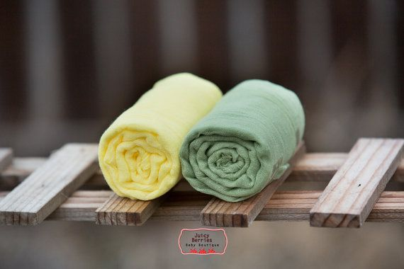 Set of 2 GRADE 50 CHEESECLOTH Wraps Lemon Yellow by JuicyBerries, $10.98