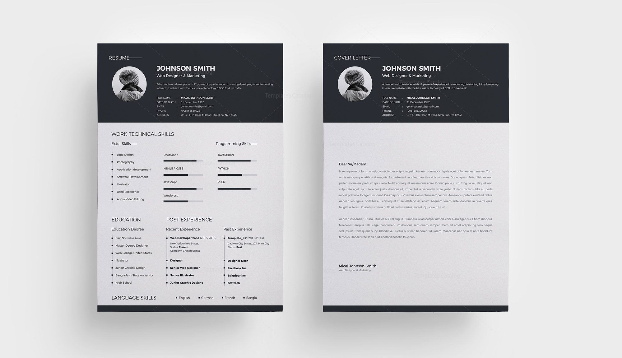 basic resume template 1 template catalog News to Go 2