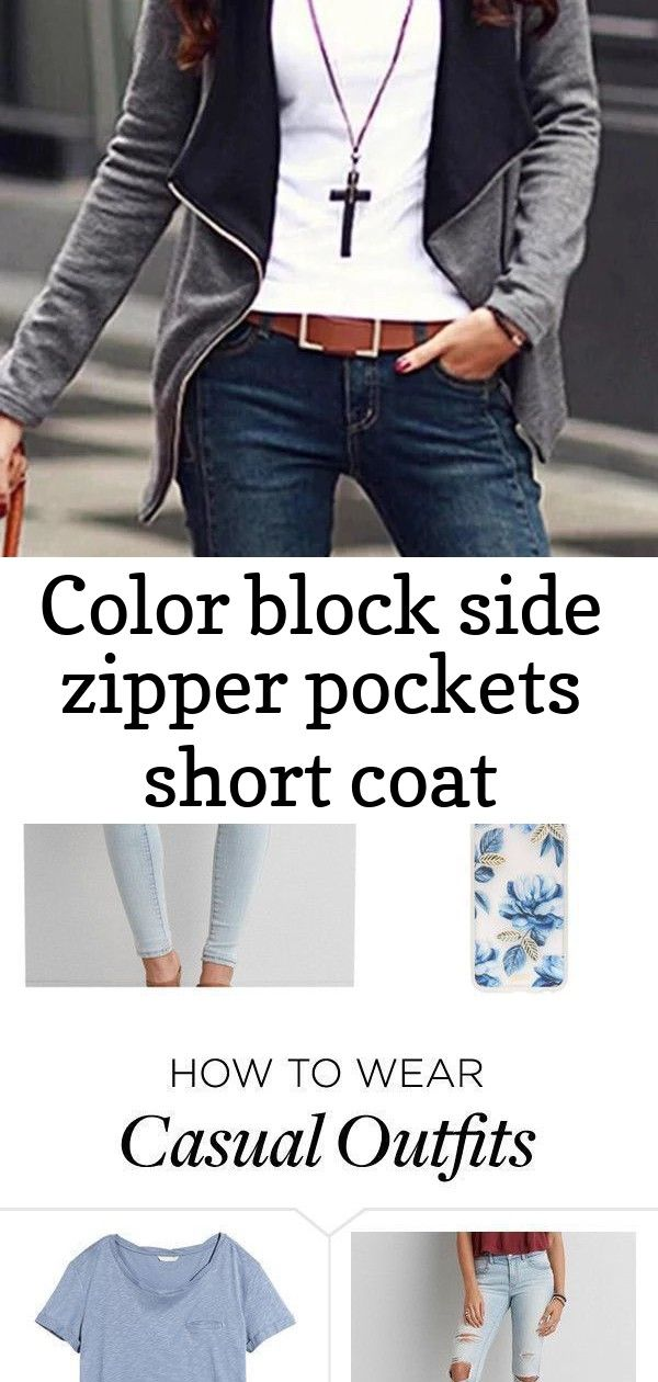Color Block Side Zipper Pockets Short Coat – dresshopnow Follow me @mcnotma Winter is coming, wrap i...