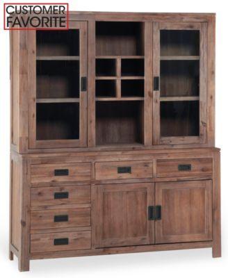 New Dark Wood China Cabinet