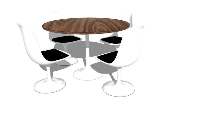 preview of 3D Model of Tulip Chair blocos sketchup