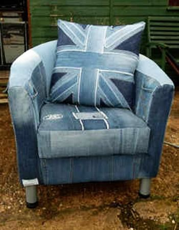 Creative Craft Ideas And Making Unique Furniture Or Home Accessories While  Recycling Old Jeans Are An