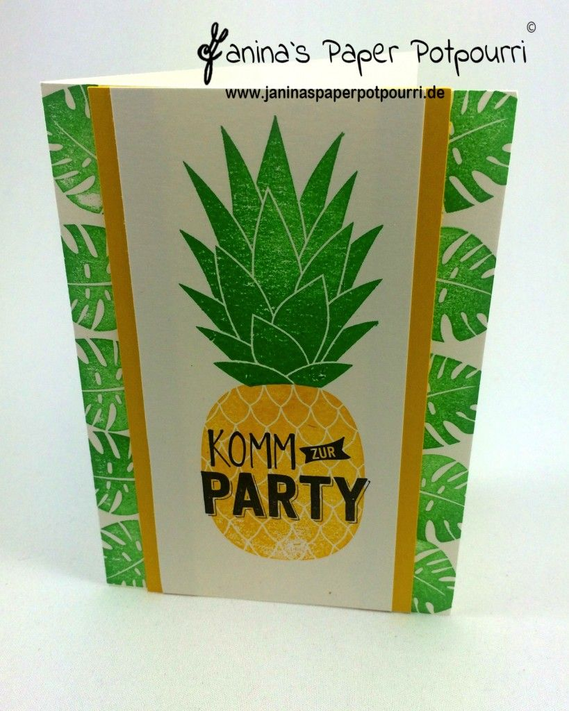 jpp Ananas Einladung Pineapple Invitation Sommer Party