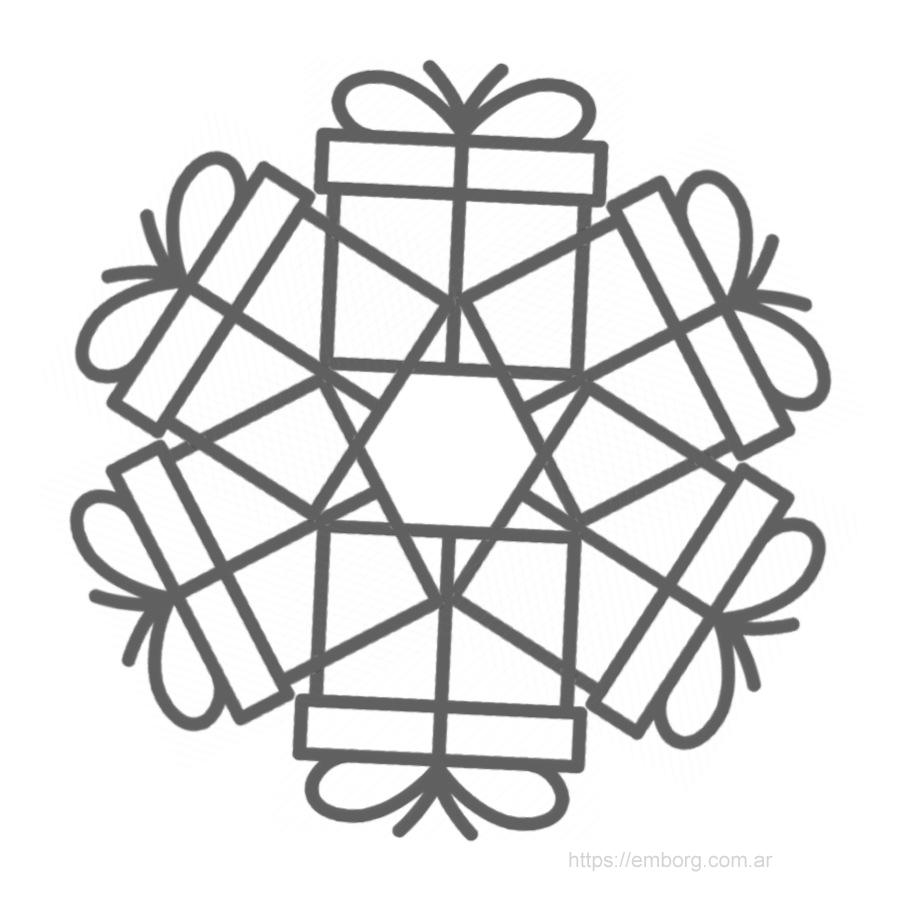 mandala-navideno-regalos | ekka | Pinterest | Mandalas de navidad ...
